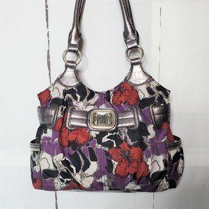 Sienna Ricchi Multicolor Floral Metallic Handbag